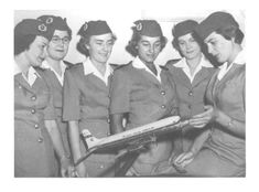 Durban's First Ground Hostesses October Photograph Courtesy of Irene Oosthuizen Civil Aviation, Flight Attendant, Irene, October, Photograph, African, History, Vintage, Photography