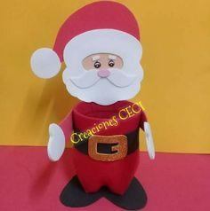 Papa Noel en botella reciclada Santa, Christmas, Diy, Fictional Characters, Creative Things, Bottle, Jelly Beans, Souvenir, Creativity