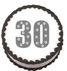 CakeSupplyShop Item45198 30th Birthday Edible Frosting Sheet Photo Image Cake Topper -- See this great product.(This is an Amazon affiliate link)