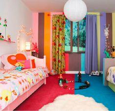 Kinderzimmer komplett gestalten – wenn Junge und Mädchen einen Raum teilen müssen - kinderzimmer komplett runde pendelleuchte aus papier babyroom kidsroom