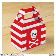 """Pirate"" Favor Box Pirate Party Invitations, Pirate Birthday, Party Guests, For Your Party, Favor Boxes, Party Hats, Pirates, Favors, Art Pieces"