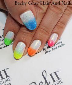 #gelii artic white #magpieglitter #pigments #festivalnails #neon #showscratch #tcbg #manicure #vfestival