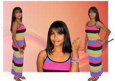 Vestidos largos de bellos colores