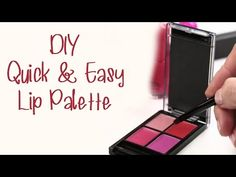 DIY Quick & Easy Lip Palette [Bright Side] - YouTube