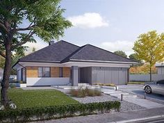 Projekt domu Decyma 9 My House Plans, House Layout Plans, House Layouts, Modern Bungalow, Exterior Design, Home Projects, Shed, Sweet Home, New Homes