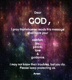 Dear GOD, I Pray...