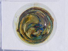 Isle of Wight Studio glass pedestal paperweight