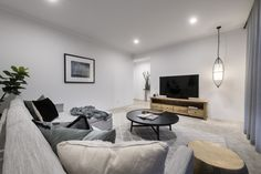 #livingroom #familyroom #tvroom #pendantlight #stylishliving