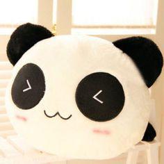"9.8"" High Panda Cushion Pillow Cute Doll Toy Lying Plush Stuffed Animal Gift US"