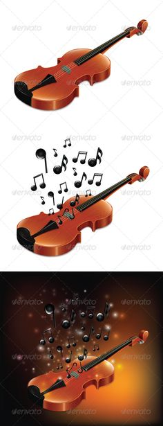 "Violin Set  #GraphicRiver        Includes:  	 FOLDER: ""Violin Set – JPG"" Contains: jpg image  	 FOLDER: ""Violin Set – EPS"" Contains: fully editable Vector Object EPS. Minimum Adobe Illustrator CS Version – CS10.  	 FOLDER: ""Violin Set – AI"" Contains: fully editable AI file. Minimum Adobe Illustrator CS Version – CS10. The image is made up entirely of vector shapes so you may resize to whatever size you need.                     Created: 27 November 13                    Graphics Files…"