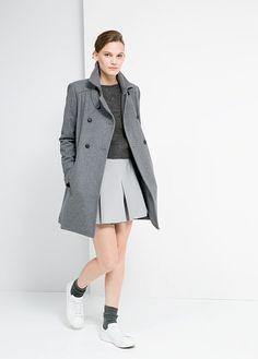 Pleated skirt // MANGO