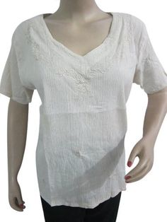 Women White Top, Summer Beach Wear Cotton Gypsy Blouse Tunic Casual Kurta, Small Size Mogul Interior,http://www.amazon.com/dp/B00CFEBBT8/ref=cm_sw_r_pi_dp_ssyCrbF7DD3E408C