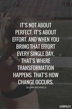 It's all about effort... effort, effort, effort and then more EFFORT!!!