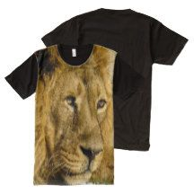#Lion #Tee Face Head Wildlife Cat Animal All-Over Print T-shirt