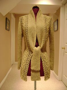 Vives Tie-Front Cardigan by MsGidgetty, via Flickr.. Interesting idea to extend the shawl collar into a tie... inspiration!