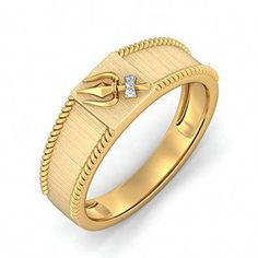 The Rajasvi Trishool Ring is a certified Diamond Ring In Gold. It is available for ₹ ✔ Certified ✔ Money Back ✔ Lifetime Exchange ✔ COD Jewelry Design Earrings, Gold Earrings Designs, Gold Jewellery Design, Men's Jewellery, Jewelry Art, Mens Gold Bracelets, Mens Gold Jewelry, Diamond Jewelry, Mens Ring Designs