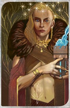 """Dragon Age: Inquisition commission for kymtastic Inquisitor Lyonesse Trevelyan I'm still open for tarot commissions. THE DEETS: $75 for the card OR $100 for the card AND a 11""""x17"""" print shipped to you! (with a thank you note!) contact me at matt.demino@gmail.com for more information!"""