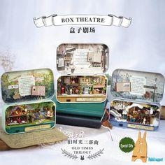 DIY Miniatura Dollhouse BOX THEATRE OLD TIMES TRILOGY Toy House Model – Toysandfun