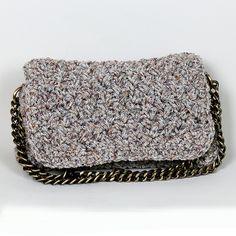 Handmade crochet flap bag Handmade Bags, Tweed, Zip Around Wallet, Handbags, Crochet, Fall, Winter, Purses, Chrochet