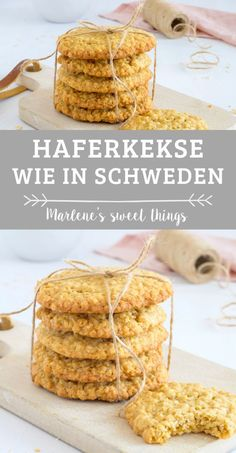 Swedish oatmeal cookies - a piece of vacation - Marlene& sweet things - Marlene's sweet things Food N, Food And Drink, Whole Grain Cereals, Recipe Organization, Oatmeal Cookies, Eating Habits, Bakery, Sweets, Cooking