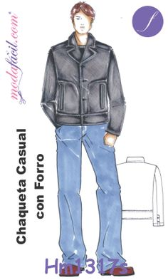 Descarga Gratis los Moldes de Chaqueta Casual con Forro hm1317 disponibles en 12 tallas trazadas individuales Listas para Cortar incluye Tallas Extragrandes Mens Sewing Patterns, Free Pattern, Winter Jackets, Cosplay, Beautiful, Free Sewing, Illustration, Design, Fashion