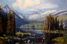 A Clear Mountain Day ~~ Michael Godfrey - American artist born in Germany 1958