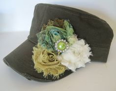 Dark Olive Green Cadet Military Distressed Army by theraggedyrose, $35.00