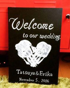 手作りしたい手形や足形を使った結婚式ウェルカムボード | marry[マリー]