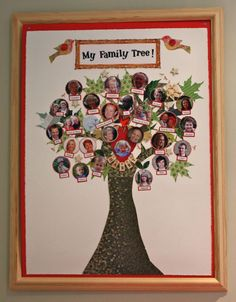 I really want to do this! Family tree with photos for kids.