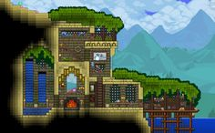Post with 9 votes and 1804 views. Shared by Terraria Beach Hill House Terraria House Design, Terraria House Ideas, Terraria Tips, Building Games, Building A House, Building Ideas, Mini Terrarium, House On A Hill, Biomes