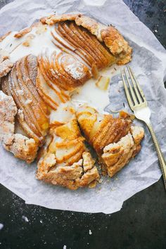 PEAR GALETTE with a rooibos glaze