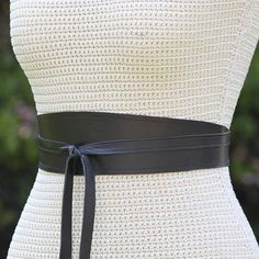 REVERSIBLE Leather & Fabric print Wrap Belt // by FeatherandBean, 45.00
