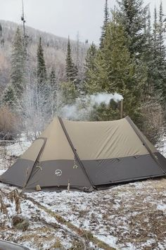 Twinpeak Awning Tent with Wood Stove Jack – Chip Lang – bushcraft camping Camping Hacks, Camping Diy, Retro Camping, Winter Camping, Outdoor Camping, Camping Kitchen, Camping Hammock, Camping Supplies, Camping Beds
