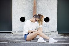 White www.absolutelyberta.com #blogsmoda #fashionblog #lookbook #shorts #nikeforce #streetstyle #white #shortsjeans outfit