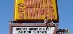 The White Stripes Jack White Meg White, Secret Admirer, The White Stripes, Shake Hands, White Strips, Shades Of White, Picture Video, My Favorite Things, Third