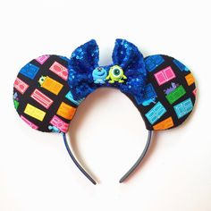 Monsters Inc Mickey Ears by To Never Neveland on etsy