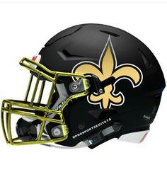 Geaux Saints WhoDat New Orleans Football Helmet Concept Design