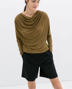 Image 1 of DRAPED TOP from Zara