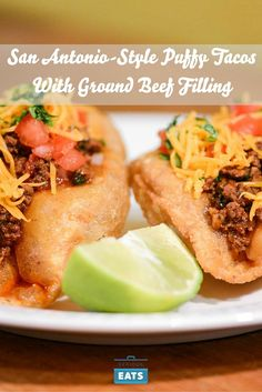 Puffy tacos, a San Antonio specialty, are made from fresh masa that puffs and…