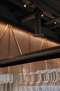 Copper mesh ceiling Bibigo - Central design studio 09