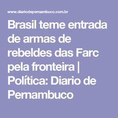 Brasil teme entrada de armas de rebeldes das Farc pela fronteira  | Política: Diario de Pernambuco