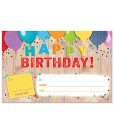 Say Happy Birthday in Upcycle Style with these bright and festive awards. Colorful balloons and rustic wood look give this award a charming birthday style.  Plus, awards are printed on card stock so students and their parents can enjoy it for years to come.