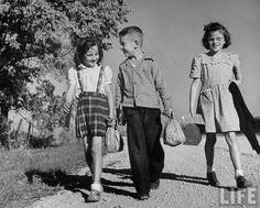 Walking to school 1946