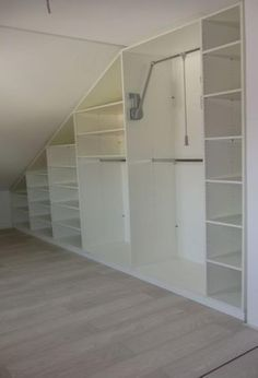 Pictures: Cupboards with sloping Under Stairs Ideas Pictures with sloping cupboa. Pictures: Cupboards with sloping Under Stairs Ideas Pictures with sloping cupboards ideas sloping color Regale ganz einfach . Cupboard Design, Closet Design, Loft Closet, Home, Diy Closet Storage, Loft Design, Cupboard, Bedroom Cupboards, Bedroom Loft