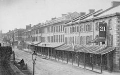 Princess Street at Wellington Street. 1865. Kingston, Ontario. Source: Vintage Kingston.