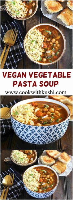 Vegetable Pasta Soup is a hearty and delicious soup loaded with full of flavor and is simple and easy to make. This is truly a comfort meal prepared in just one pot and ready in less than 30 minutes. If you think soup isn't filling then please do try out this recipe.