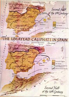 Maps of the Umayyad Caliphate in the Second Half of the 9th and the Second Half of the 10th Centuries