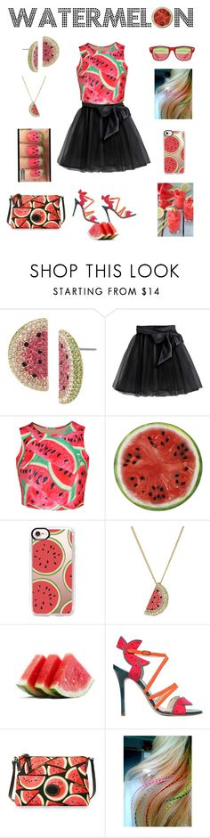 """""""Watermelon"""" by hopesparksembers ❤ liked on Polyvore featuring Betsey Johnson, Little Wardrobe London, WithChic, Round Towel Co., Casetify, Camilla Elphick and Dooney & Bourke"""