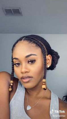 Black Girl Updo Hairstyles, Cute Short Natural Hairstyles, Wand Hairstyles, Natural Hair Braids, Braided Hairstyles For Black Women, Natural Hair Styles For Black Women, Cabello Afro Natural, Hair Without Heat, Hair Puff