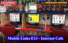 If you are based in East London, UK and looking for an Internet Cafe Near Me then walk in to Mobile Links Shop at 396 Barking Road, East London, Mobile Phone Locator, Mobile Phone Shops, Mobile Phone Repair, Cell Phone Service, Laptop Repair, Mobile Accessories, East London, Arcade Games